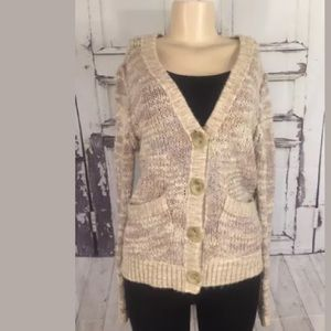 FREE PEOPLE SWEATER MEDIUM  CHUNKY OATMEAL KNITTED